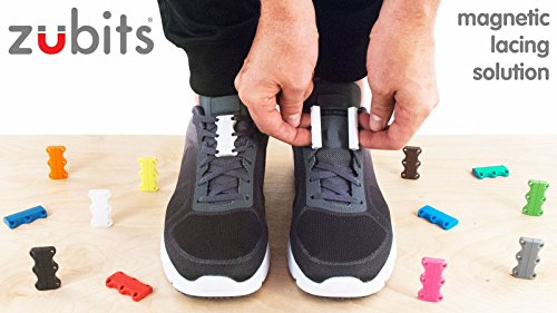 Zubits Magnetic Lacing Solution, Never Tie Laces Again, Grey - #1 - Kids by Zubits (Image #5)