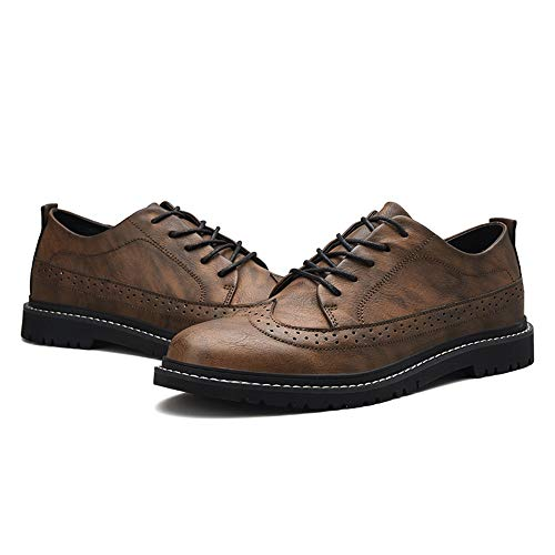 color Cachi Dimensione 2018 Fashion 39 Xujw Eu Scarpe Marrone Oxford Stringate Stile Casual Traspirante Da Basse Carving Brogue Classic shoes Per Uomo qUS15wXSna