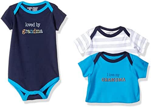 Luvable Friends Baby Sayings Bodysuit 3pk