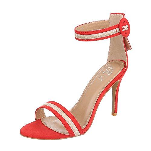 Ital-Design - Plataforma Mujer Rojo
