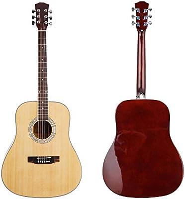 41 pulgadas Guitarra Acústica de madera con necesario accesorios ...
