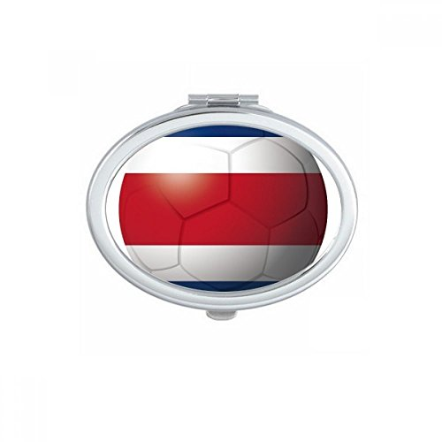 Costa Rica National Flag Soccer Football Oval Compact Makeup Mirror Portable Cute Hand Pocket Mirrors Gift by DIYthinker