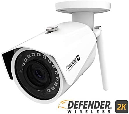 Defender 2K 4Mp Wireless Wide Angle, Night Vision IP Camera with Remote Mobile Viewing and No Monthly Fees