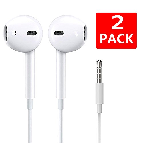 Earbuds,XinHen Sports Earphones with Horn Earbuds with Mic Stereo Wired In-Ear Earphones 3.5MM Jack Headphones for iPhone/Android [2PACK] Earphones