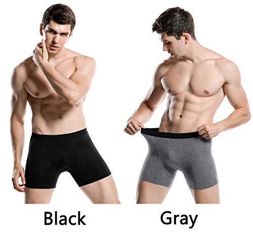 Aserlin Men's 5 Pack Regular Legs Underwear Cotton Mens Boxer Briefs No Ride-up Sport Underwear Men Pack-A-3B2G-L by Aserlin (Image #2)