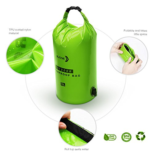 Water Filter Bag System,15L High Volume Gravity Fed Water Purifier,Portable Dry Bag and Outdoor Hydration Pack with 1 Shower And 1 Hollow Fiber Filter Module for Camping and Adventures