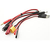 Many Helicopter Quadcopter Airplane Boat Car Controller RC Multi-Function Charge Lead with 4mm Banana Plugs Futaba JR XT60 HXT 4mm JST Servo Lead Socket Charging Power