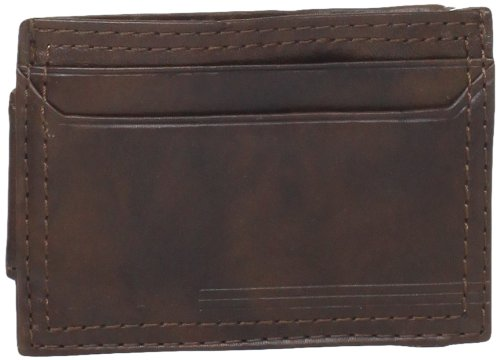 dockers-mens-slim-magnetic-slim-front-pocket-wallet-brown-one-size