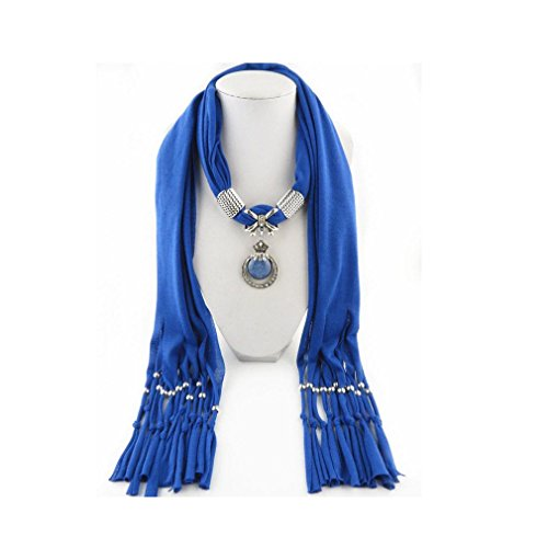 Resina Sciarpa Con Ciondolo Frange Di Blue Nikeman qpRXwAd0Op