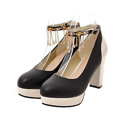 Fibbia Luccichio Colore Donna Ballet Agoolar Tacco Alto Gmmdb005930 flats Assortito Nero gxwYtxqnI