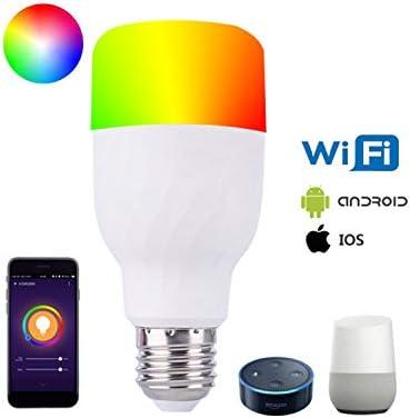 Pet Bombilla LED Inteligente De Voz WiFi Casa Inteligente Bombilla De Control Remoto App Apoya A Alexa En Casa