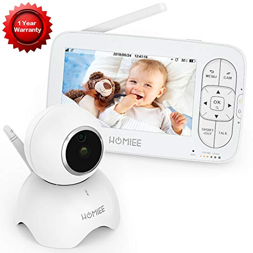 HOMIEE Video Baby Monitor, with 720P Digital Camera Now $101.99 (Was $189.99)