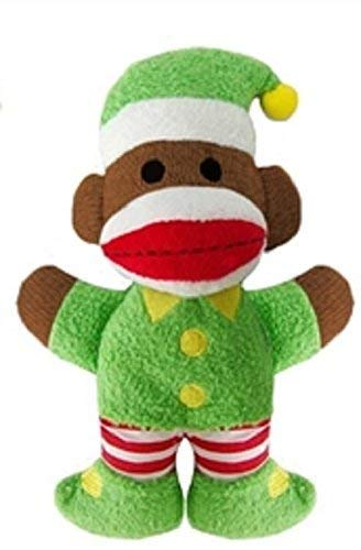 """Lulubelles 7.5"""" Baby Elf Christmas Holiday Sock Monkey"""