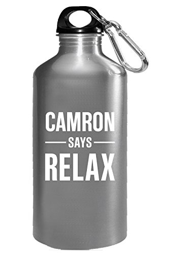 Camron Says Relax Personalised Gift For Name - Water Bottle