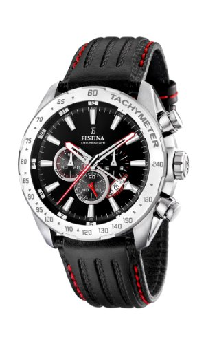 Festina Men's Stainless Steel Black Dial Black Strap Chronograph Watch F16489/5