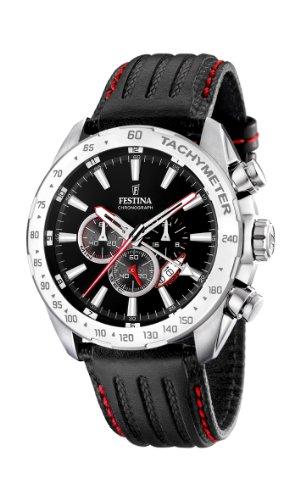Festina Men's Stainless Steel Black Dial Black Strap Chronograph Watch F16489/5