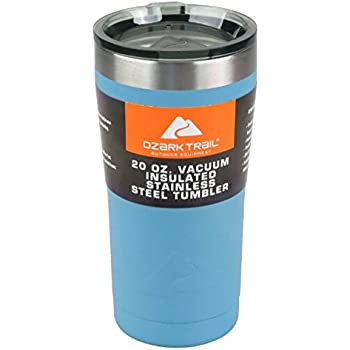 Ozark Trail 20-Ounce Double-Wall, Vacuum-Sealed Tumbler (1, Navy Blue)