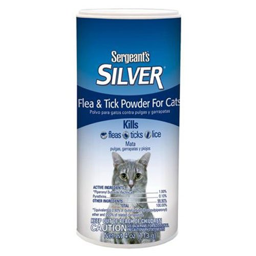 Sergeant's Silver Flea and Tick Powder Cat 4-Ounce