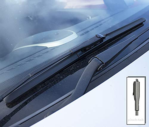 Fortwo 2007-2014 Heyner Germany Aero Flat Windscreen Wiper Blades Replacement Front SetModel Size 2123