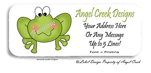 60 Cute Pink Cheeks Frog Froggie Personalized Return Address Labels