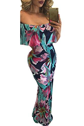 Imprimé floral Modèle décolleté au niveau Maxi robe taille M 10–12UK