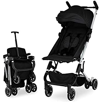 Babyroues Traveler Stroller, Ultra Lightweight and Compact, Infant to Toddler, Fits in Airplane Overhead Bin, 1 Step Fold, Full Reclining, Pull Handle