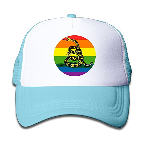 Little Monster Knit Hat - DNUPUP Kid's Don't Tread On Me Rainbow Flag Adjustable Casual Cool Baseball Cap Mesh Hat Trucker Caps