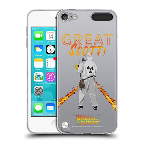 (Official Back to The Future Great Scott! I Quotes Soft Gel Case Compatible for Apple iPod Touch 5G 5th Gen)