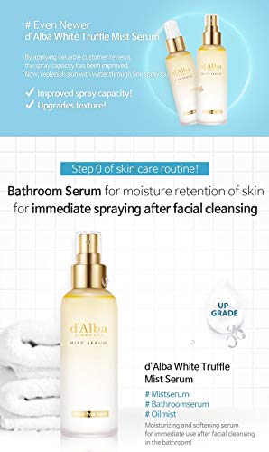 Korean Cosmetics d' Alba Piedmont White Truffle Face Mist Spray Serum-4 Function Toner, Facial moisturizer, Serum and Mist for Anti-aging and facial cleansing by d'alba Piedmont (Image #2)