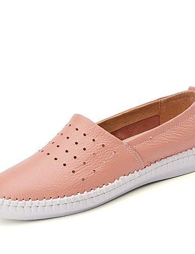 ShangYi gyht Scarpe Donna-Ballerine-Tempo libero / Formale / Casual-Comoda-Piatto-Pelle-Nero / / Casual-Comoda-Piatto-Pelle-Nero Rosa / Bianco , pink-us8.5 / eu39 / uk6.5 / cn40 , pink-us8.5 / eu39 / uk6.5 / cn40 Pink 85236b