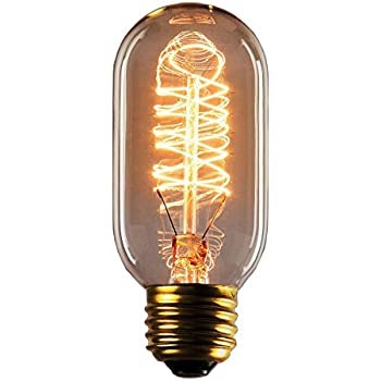 Vintage Edison 40W 110V E26 Base Squirrel Cage Filament