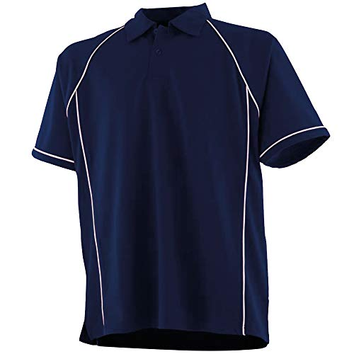 Finden & Hales Kids Big Boys Piped Performance Sports Polo Shirt (5-6 Years) (Navy/White)