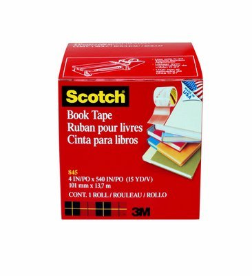 Scotch(R) Book Tape 845, 4 in x 15 yd, 8 rl/cs by 3M (Image #1)