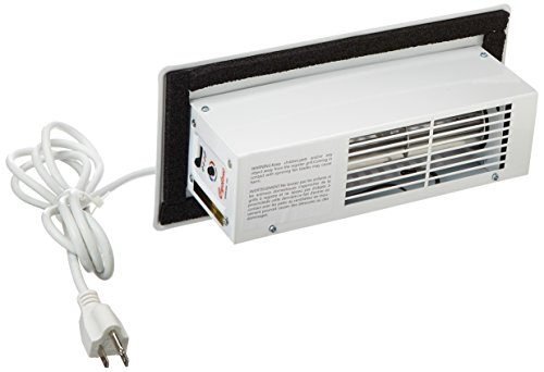 White Automatic Register (Tjernlund CBW Automatic Register Booster Fan, Steel, White)