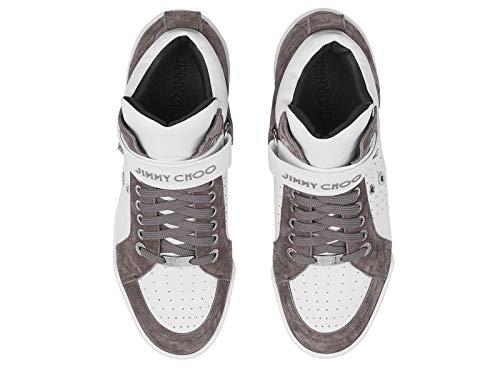 in grigia Jimmy alte marrone Lewisocu163 e pelle Man Choo Sneakers PwRqAOaP