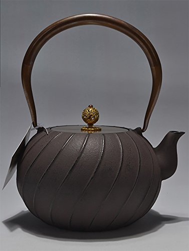 Fenjun - Japanese Iron Teapot Handmade Cast Iron Pots Pig Iron Pot Old Iron Pot Boiled Tea No Coating Roads 1.2L