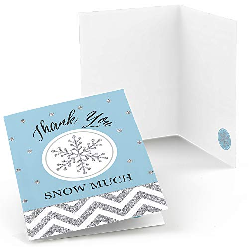 Big Dot of Happiness Winter Wonderland - Snowflake Holiday Party and Winter Wedding Thank You Cards (8 Count) (Thank You Card Snowflake)