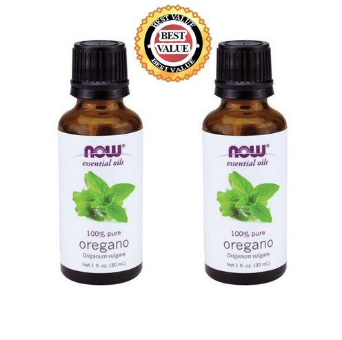 NATURAL Organic Aromatherapy Pure Botanical Therapeutic Grade NOW Foods Essential Oils Set. 2-pack of Oregano Oil. BEST for Balance, Healing, Relieve, Sleep, Weight Loss, Cooking, Purify Blends, Diffuser, Stress & Massage. Best, Great Gift Ideas! (Oregano) (Now Foods Wintergreen Oil compare prices)