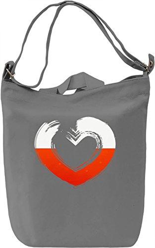 Poland Borsa Giornaliera Canvas Canvas Day Bag  100% Premium Cotton Canvas  DTG Printing 