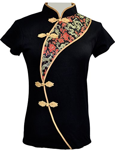 Amazing Grace Elephant Co. Sexy Chinese Dress Top Modern Qipao Cheongsam Top (XXXXX-Large, Sophisticated Lady)