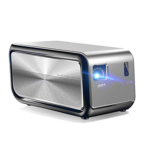 L&M Projector HD 1080P 1100 Lumens Smart Wireless WiFi 300-Inch HiFi Sound for Home Entertainment Party Game Office