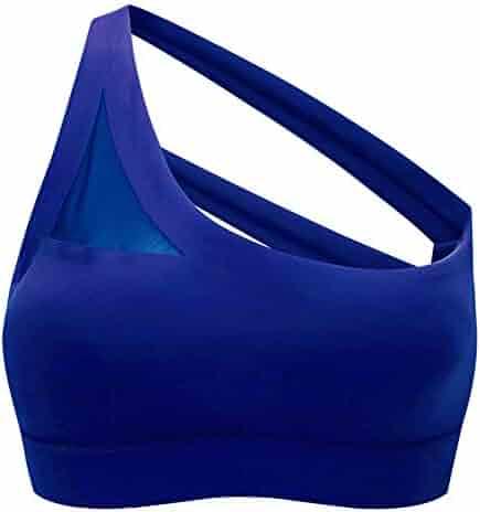 58538f1db06e Yandam Women's Gathered Sports Bra Without Traces Without Rim Underwear  Vest(Blue M)