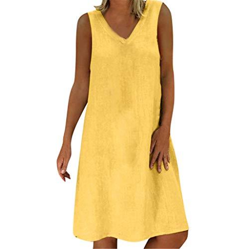 - TOTOD Women Cotton Linen Dress,Summer Fashion Women Feminin Vestido Long T-Shirt Casual Boho Loose Shirt Dress