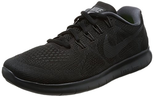NIKE Women's Free RN 2017 Running Shoe (7 B(M) US, Black/Anthracite Dark Grey)