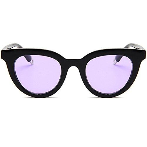 CHBC New Fashion Colorful Retro Personality Cat Eye Sunglasses Small Framed Sunglasses - Purple Framed Glasses