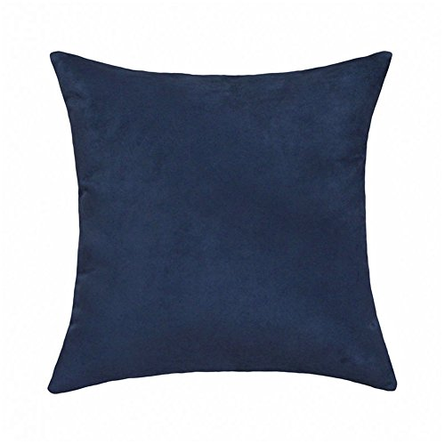 Arlumi Faux Suede Square Home Decorative Throw Pillow Case C