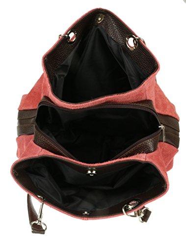 Suede HandBags Italian Italian Leather Girly HandBags Girly Bag Shoulder Coral qwXP4O6