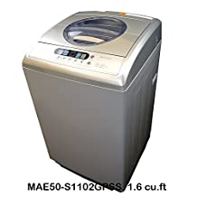 Midea 5kg Compact Portable Washing Machine / Washer (MAE50-S1102GPSS, 1.6 Cu.ft /11lbs, Silver)