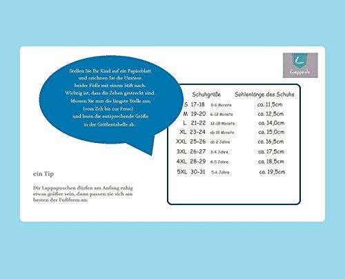 Lederpuschen Hausschuhe Kindergartenschuhe Krabbelschuhe Baby Lederschuhe Schläppchen Lauflernschuhe mit Wildledersohle Gr.19-31 LappaDE Art. 149 Mokassis braun-beige Ledermix