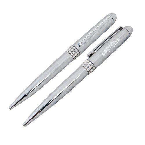 Wisconsin Platteville Glamour Silver Twist Pen 'Official Logo (Twist Logo Pen)